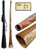 Didgeridoo in eucalipto, altezza tonda D ca. 165-175 cm, professionale, perfetto per toots
