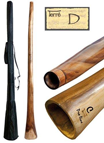 Didgeridoo aus Eukalyptus Tonhöhe D ca. 165-175 cm professionell perfekte Toots Reisetasche Aborigines Australien Percussion
