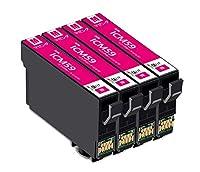 エプソン epson 互換インクカートリッジ ic59 ICM59-4pk マゼンダ 4個パック 対応プリンター: PX-1001 PX-1004 PX-1004C9 残量表示icチップ付大阪インク
