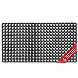 Ringgummimatte Wabenmatte mit Lochmuster in der Größe 50x100cm H-23mm Schmutzfangmatte für Innen und Außen