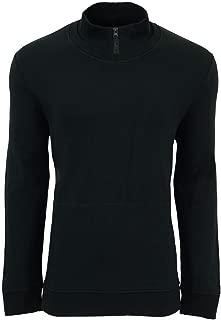Kenneth Cole Mens Mock-Neck Sweatshirt, Black, Medium