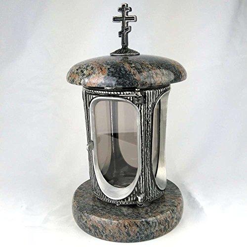 designgrab Lampe Funéraire avec croix orthodoxem