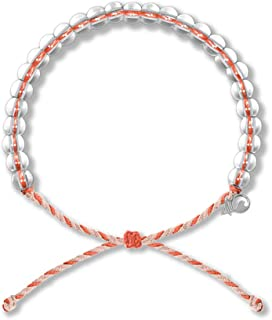 4Ocean Bracelet with Charm Made from 100% Recycled Material Upcycled Jewelry Whale Sharks (Orange/Tan)