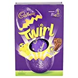 Imported from the UK for Easter, Cadbury's Twirl Easter Egg is a large size, hollow milk chocolate egg with 2 delicious Twirl candy bars inside. Cadbury's Twirl are milk chocolate fingers, flaked and rolled with a smooth chocolate covering.