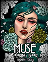 Muse: A coloring book collection of female portraits, florals, and magic