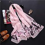 K-ONE Bufanda de Mujer Moda Primavera Verano Bufandas de Seda Hollow Floral Lady Chales y Abrigos Foulard Stoles
