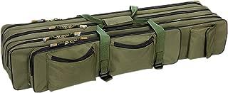UNISTRENGH 3 Layers Waterproof Fishing Tackle Bag Portable Folding Fishing Rod Carrier Case Fish Pole Reel Tools Storage Bag Fishing Gears Organizer