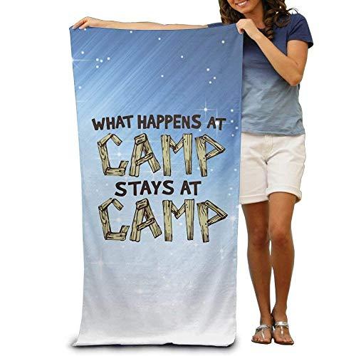 LOPEZ KENT Wxf Wat gebeurt er in het kamp Verblijft in Camp Zachte Snelle Drogen Strandhanddoek Zwembad Handdoek 31x51