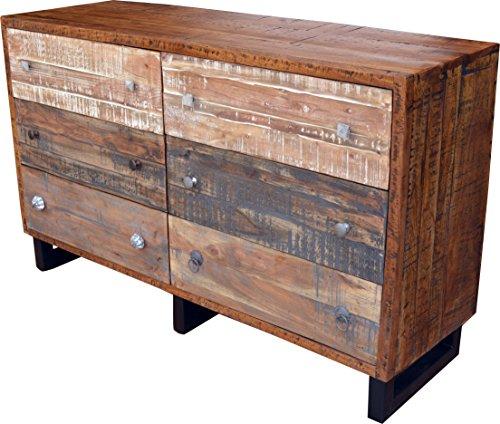 Guru-Shop Ladekast, Ladekast, Bruin, Acaciahout, 85x140x40 cm, Ladekasten Dressoirs