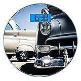Escala digital de peso corporal de precisión Ronda Historia del automóvil...