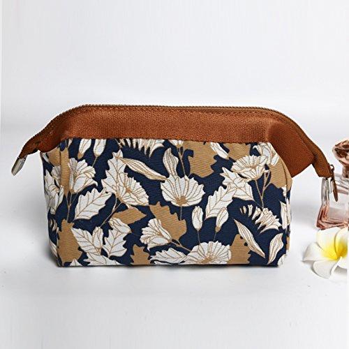 MZP Mme Corée du forfait d'admission cosmétiques grand sac à main portable sac étanche cosmétiques Voyage Voyage lavage trompette sac , brown chrysanthemum