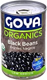 ORGANIC, PLUMP & SMOOTH   The GOYA Black Beans you love now also come in Organic! These black beans have an amazing earthy flavor, creamy texture and are seasoned with sea salt EXCELLENT DIET COMPATIBILITY   100% USDA Certified Organic, Gluten Free, ...