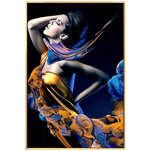 Realistische karakters kunstschilderij op canvas muurkunst wandversiering afbeeldingen schilderij voor woonkamer huis decoratie 40 x 60 cm No Frame