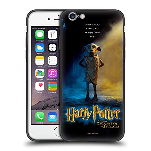 Head Case Designs Ufficiale Harry Potter Dobby Poster Chamber of Secrets III Cover Ibrida Skinny Fit Trasparente Compatibile con Apple iPhone 6 / iPhone 6s