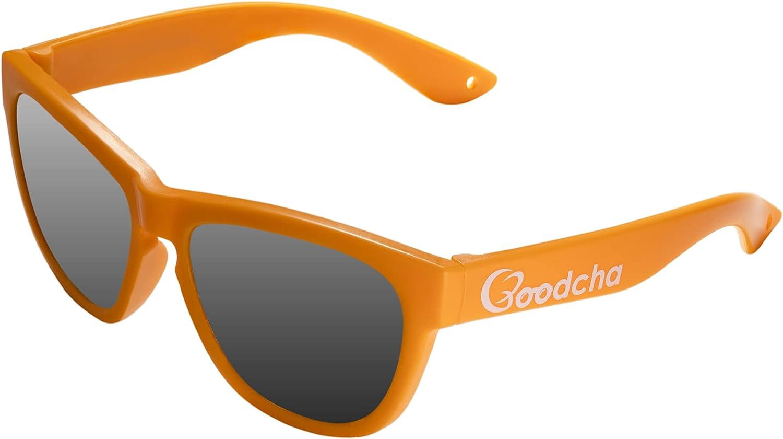 Goodcha - Gafas de sol para bebé de 0 a 3 años, con correa desmontable 'The Mango' – para niños – 100% protección UV – Flexible – Polarizada – Durable – Certificado CE & ISO – Sin BPA