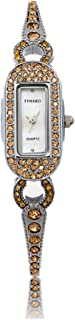 Time100 Women Pearl Dial White Diamonds Rose Gold Case Quartz Watch