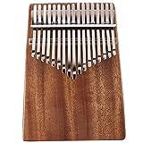 SFFSM 17 Claves Kalimba Caoba Pulgar Piano Instrumento Musical con la Bolsa de Tela de sintonización Martillo Etiqueta Kalimba Accesorios (Color : Coffee)