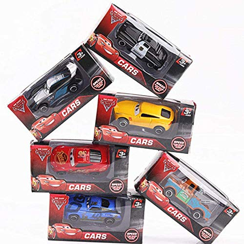 Auto model 7Pcs / set Disney Pixar Cars 3 Onweer Mater Mack Uncle Truck 1:55 Diecast Metal Car Model Boy Toy-Met Retail Box dljyy