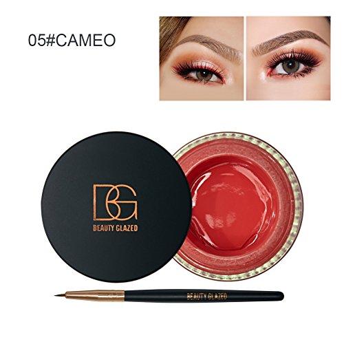 doubleer Multi colores Delineador Crema Resistente Al Agua duradero Delineador de ojos delineador de ojos Gel Dye