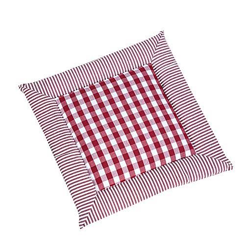 GANE Sitzkissen Square Dining Chair Pads, Leinen Plaid Weiches Nettes Stuhlkissen Mit Krawatten Für Zuhause, Outdoor