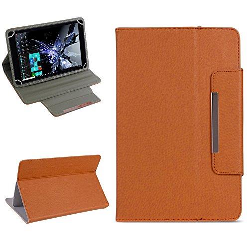 NAUC Tablet Tasche für TrekStor Surftab Breeze 7.0 Hülle Schutzhülle Hülle Cover Etui, Farben:Braun