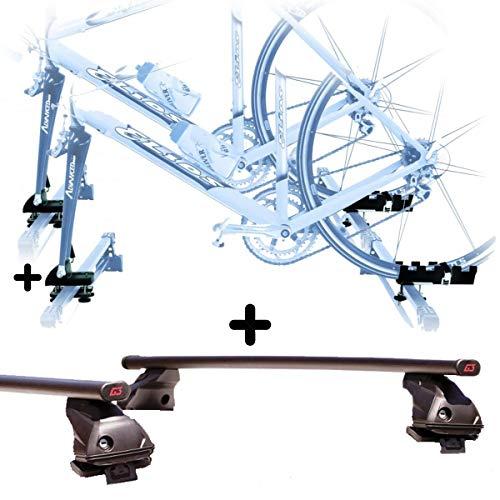 PROPOSTEONLINE Due Portabici da Tetto Auto per Mazda CX-3 5p (2015 in Poi) 2X Porta Biciclette Attacco Bici a Forcella Set Barre Portatutto