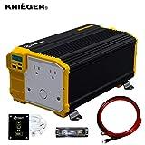 Krieger 3000 Watts Power Inverter 12V to 110V, Modified Sine Wave Car Inverter, Dual 110 Volt AC...