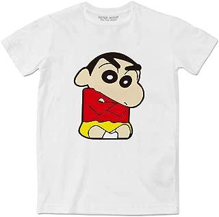 Shin Chan White Women Men Fashion T-Shirt