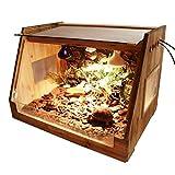 ウォッチタンクの防油堤内両生類爬虫類ケージリザードタートルスネークボックスのガラスボックス猫犬ペットハウスを食べさせるナチュラルファーボックス、ビバリウム (Size : 80*45*45CM)