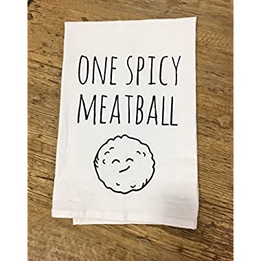 Funny Dishcloth/Tea Towel ~ One Spicy Meatball ~ Funny Kitchen Cloth.