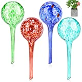 Achort Self Watering Globes Plant Glass Bulbs Decorative Aqua Water Globes Plant 4pcs Colorful Watering Globe Kit Holiday Watering System Garden Pot Waterers Indoor and Outdoor (15 x 6cm)