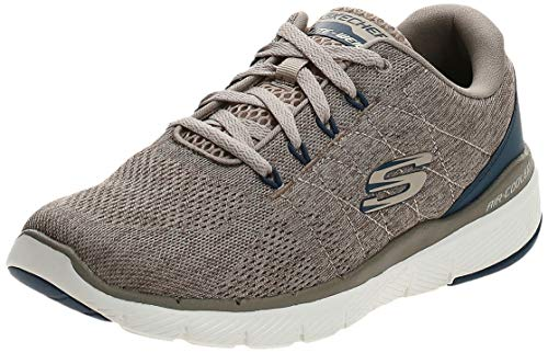 Skechers FLEX ADVANTAGE 3.0- STALLY-52957, Herren Low-Top, Beige (Taupe Blue Tpbl), 44 EU