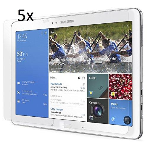 5x Displayschutzfolie für Samsung Galaxy TabPRO 10.1 T520 Original von Saxonia. Kristallklar in bester Qualität inkl. Mikrofasertuch - Klar | 5er Pack (Spar Set)