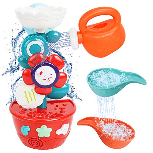 MOZOOSON Wasser Spielzeug für Baby Kinder ab 1 Jahr Badespielzeug als Geschenk für Geburtstag Blumen Windmühle