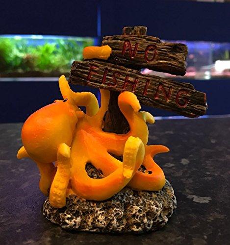 Tintenfisch/Oktopus keine Fischerei Schild Aquarium Fisch Tank ornament