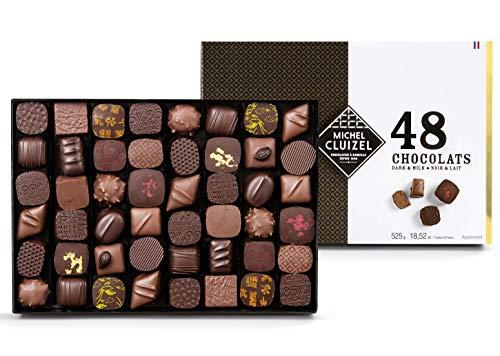 Michel Cluizel Caja de regalo 48 Pralinés de fabricación Chocolate negro y con leche - 1 x 525...