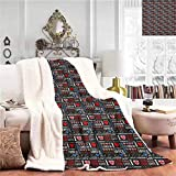 EDZEL Elegant and Comfortable Blanket Throw Blankets Different Calligraphy Designs and Cute Valentines Hearts I Love London Quote Travel All Season Premium Bed Blanket Throw Size