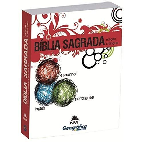 Bíblia Nvi Trilíngue Pequena Brochura Branca