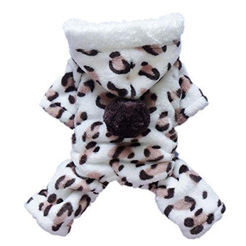Ancdream Pour Chien Pet mode Manteau chaud d'hiver à capuche Combinaison Vêtements Costume