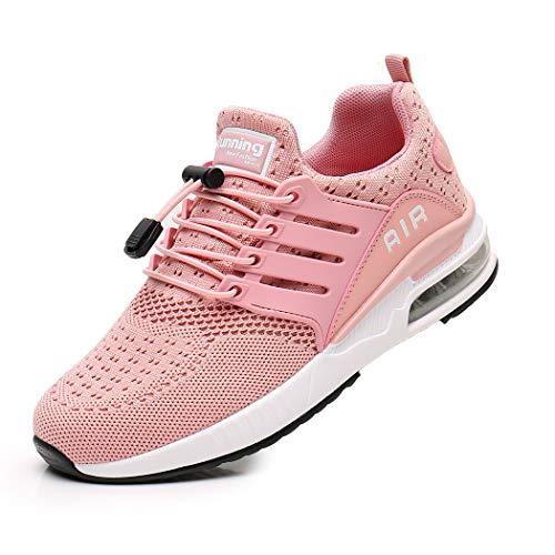 Zapatillas de Deporte Hombre Mujer Ligero Zapatos para Correr Respirable Running Bambas Calzado Deportivo Andar Crossfit Sneakers Gimnasio Casuales Fitness Outdoor Antideslizante Pink37