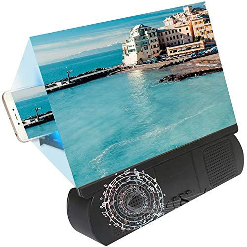 Fintass High Definition Projection Telefoonhouder Scherm Vergroot Beugel met Bluetooth Speaker Films Versterker