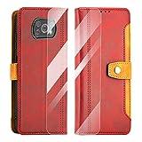 SCOOL Leder Handyhülle für Xiaomi Poco X3 NFC,