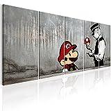 murando - Bilder Banksy Mario 200x80 cm Vlies Leinwandbild