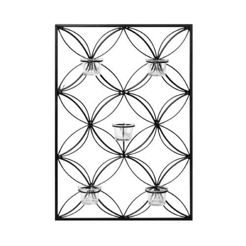 Elements Wire Circles 5 Tea Light Sconce