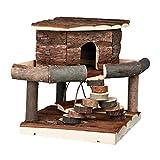 Pet Ting Natural Living Ida Haus für Hamster, Mäuse, Rennmäuse, Spielhaus aus Holz