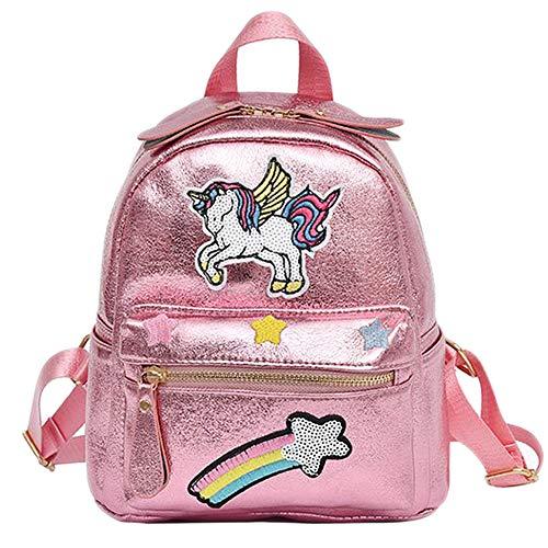 Comtervi Mochilas de la escuela Unicornio, bolsos del estudiante del arco iris del unicornio de la moda de la fantasía para las muchachas muchachas Adolescentes