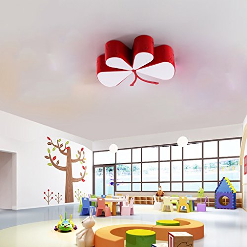 Lily's-uk Love Creative Kids Room Lumière de plafond Led Personnalité Maternelle et Child Kindergarten Classroom Éclairage Modern Cartoon Butterfly Lights - Rouge