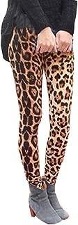 JOFOW Womens Straight Leg Pants Leopard Print Casual Stretch Skinny Hot Fashion Long Leggings