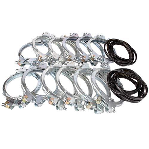 silos24 104020 12 Stück Pellet-Spannringe DN 100 für Pelletsfüllrohre, Spannring für Bördelrandrohr
