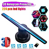 3D Hologram Advertising Display LED Fan, 3D Hologram Fan Projector with 224 Beads LED, 16GB Micro SD...